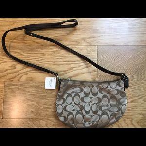 Coach signature sateen crossbody shoulder bag